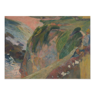 Flageolet Player on the Cliff by Paul Gauguin Card