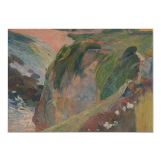 """Flageolet Player on the Cliff by Paul Gauguin 5"""" X 7"""" Invitation Card"""