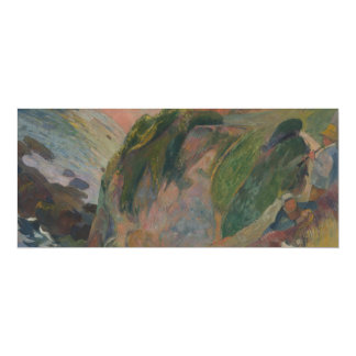 """Flageolet Player on the Cliff by Paul Gauguin 4"""" X 9.25"""" Invitation Card"""