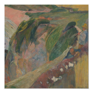 """Flageolet Player on the Cliff by Paul Gauguin 5.25"""" Square Invitation Card"""