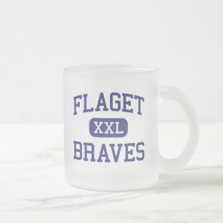 Flaget - Braves - High - Louisville Kentucky 10 Oz Frosted Glass Coffee Mug