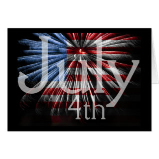Flagfireworks July 4th Card at Zazzle