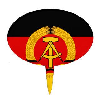 Flagge der DDR - Flag of the GDR (East Germany) Cake Topper