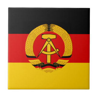Flagge der DDR - Flag of the GDR (East Germany) Ceramic Tile