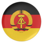 Flagge der DDR - Flag of the GDR (East Germany) Melamine Plate