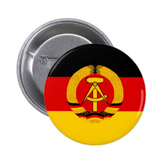 Flagge der DDR - Flag of the GDR (East Germany) Pinback Button