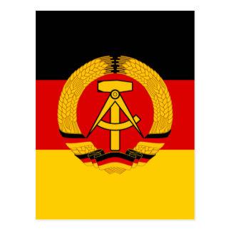 Flagge der DDR - Flag of the GDR (East Germany) Postcard