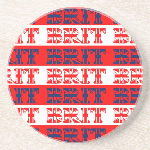 Flagged Brit Stripe Drink Coaster