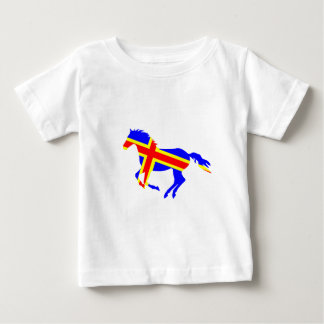 Flagged Horse Baby T-Shirt
