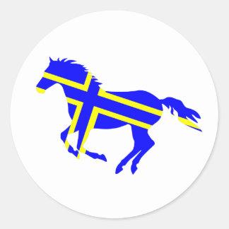 Flagged Horse Classic Round Sticker