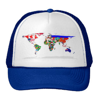 Flagged world cap