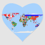 flagged world heart stickers