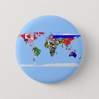 flagged world pinback button