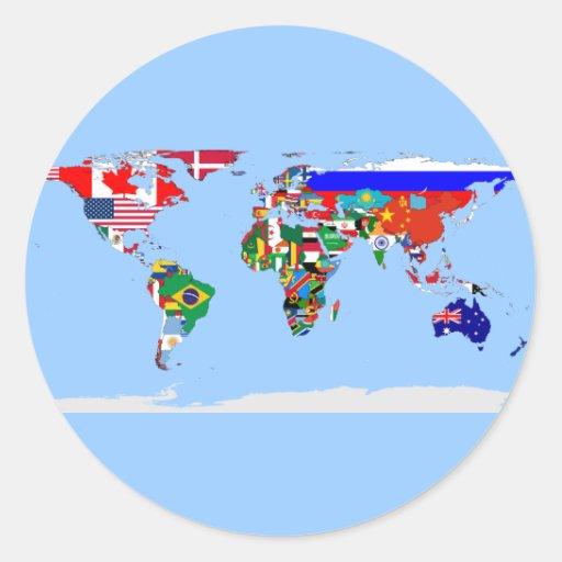 flagged world round sticker
