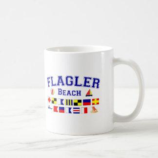 Flagler Beach, FL - Nautical Spelling Classic White Coffee Mug