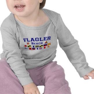 Flagler Beach, FL - Nautical Spelling Tee Shirt