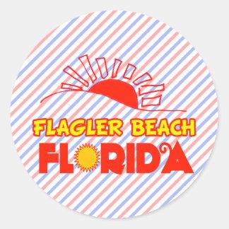 Flagler Beach, Florida Classic Round Sticker