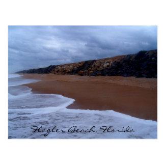 Flagler Beach Florida Shoreline Postcard