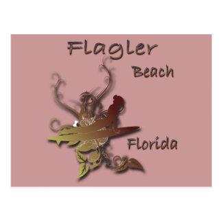 Flagler Beach Florida Surfer design Postcard