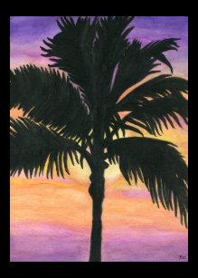 watercolor palm tree canvas art prints zazzle