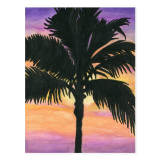 Flagler Beach Palm Tree Postcard