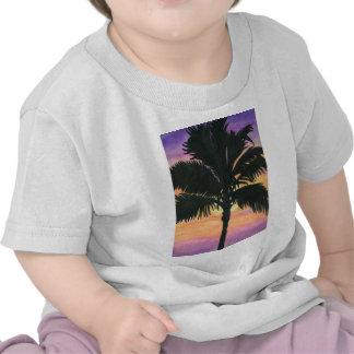 Flagler Beach Palm Tree Tee Shirts