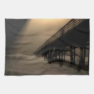 Flagler Beach Pier Kitchen Towel