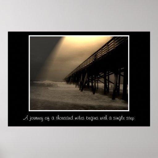 Flagler Beach Pier Photograph Poster