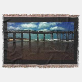 Flagler Beach Pier Throw Blanket