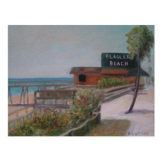 FLAGLER BEACH Postcard