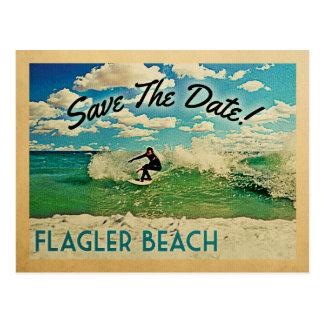 Flagler Beach Save The Date Florida Surfing Postcard