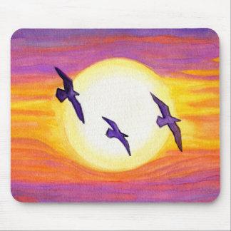 Flagler Beach Seagulls Mouse Pad