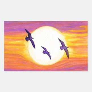 Flagler Beach Seagulls Rectangular Sticker