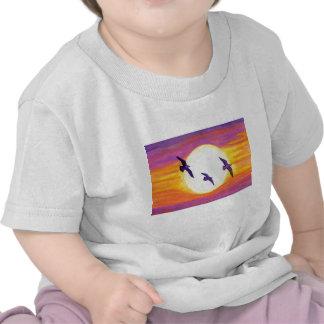 Flagler Beach Seagulls Tee Shirt