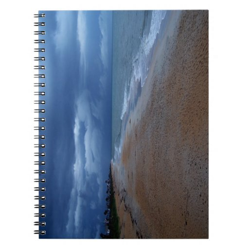 Flagler Beach Shoreline View Spiral Notebook