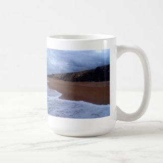 Flagler Beach Shoreline With Rocks Coffee Mug