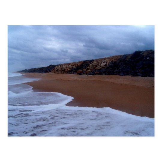 Flagler Beach Shoreline With Rocks Postcard