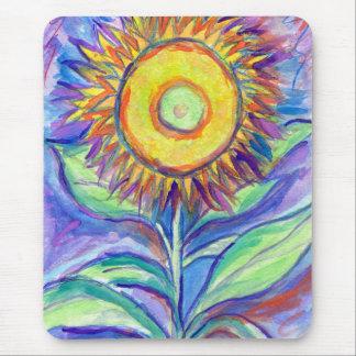 Flagler Beach Sunflower Mouse Pad