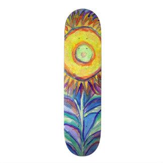 Flagler Beach Sunflower Skateboard Deck