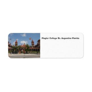 Flagler College St. Augustine Florida Label