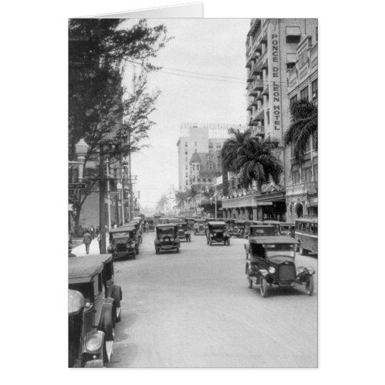Flagler Street, Miami, 1920s Card