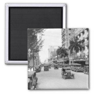 Flagler Street, Miami, 1920s 2 Inch Square Magnet