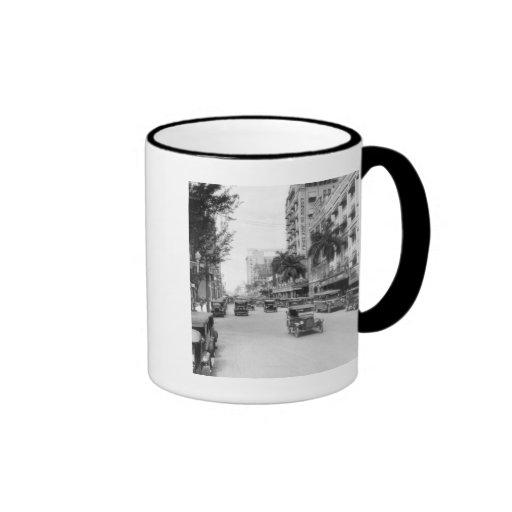 Flagler Street, Miami, 1920s Ringer Mug