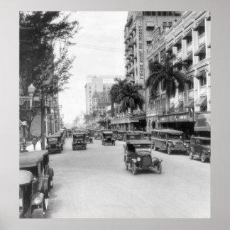 Flagler Street, Miami, 1926 Posters