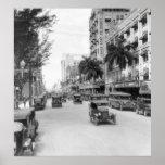 Flagler Street, Miami, 1926 Póster