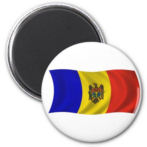 Flagof el Moldavia Imán Redondo 5 Cm