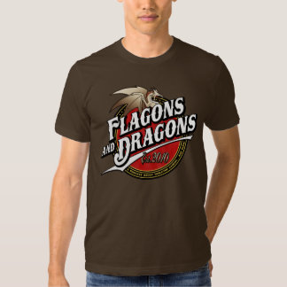 Flagons and Dragons Podcast Est.2010 Logo Shirt