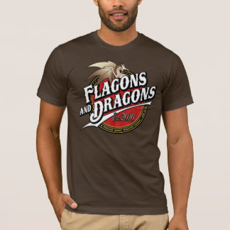 Flagons and Dragons Podcast Est.2010 Logo T-Shirt