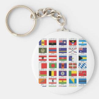 flags1 basic round button keychain