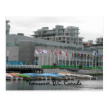 Flags and Canoes Postcard